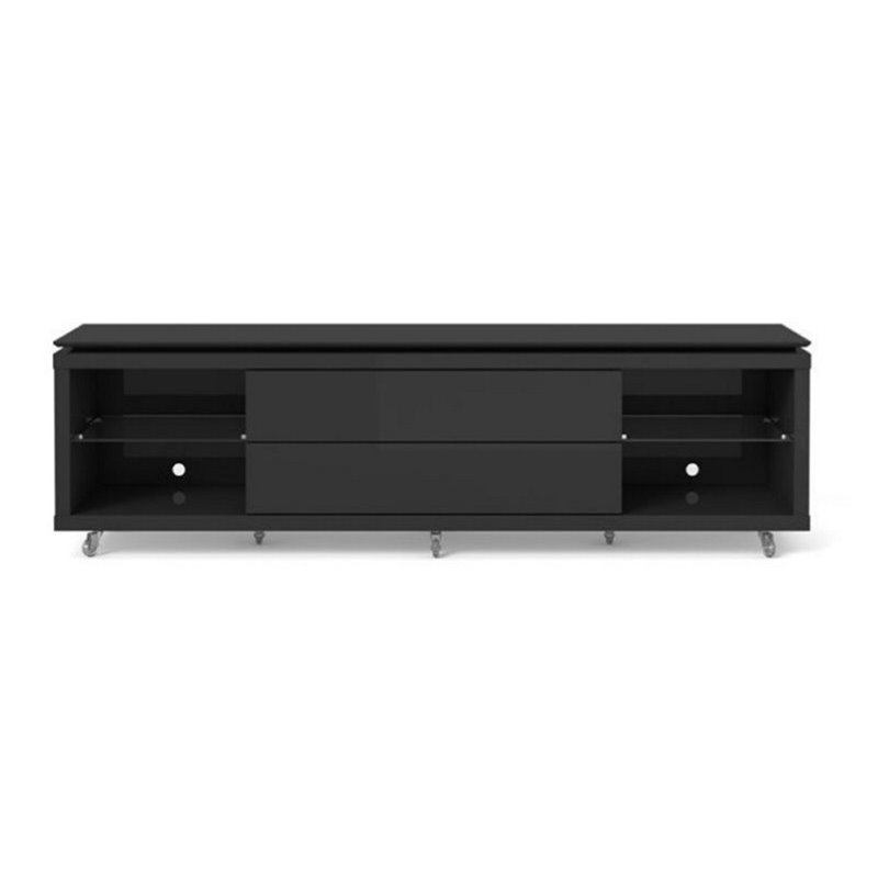 "Bowery Hill 77"" Tv Stand In Black"