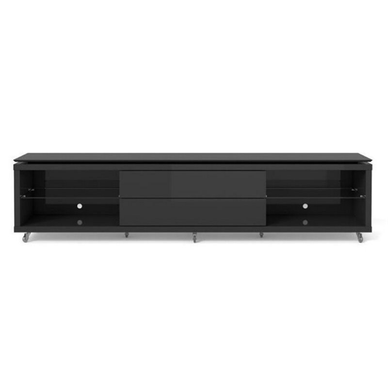 "Bowery Hill 94"" Tv Stand In Black"