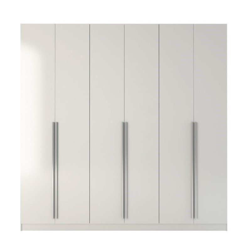 "Bowery Hill 90.5"" Wardrobe In Glossy White"