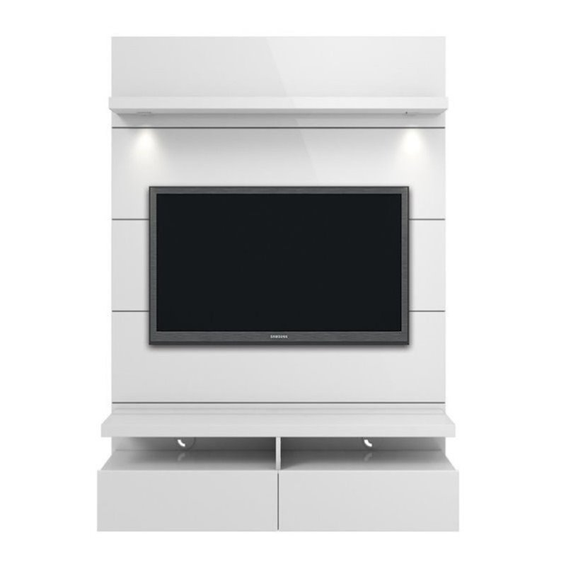 "Bowery Hill 47"" Tv Stand In Glossy White"