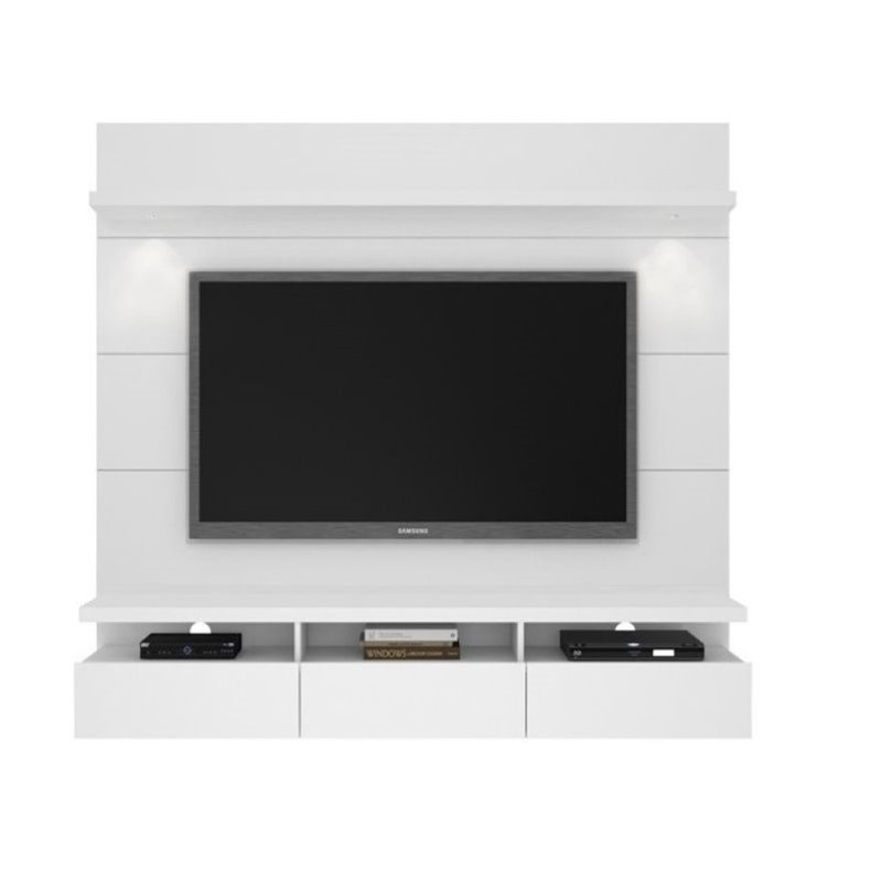 "Bowery Hill 71"" Tv Stand In Glossy White"