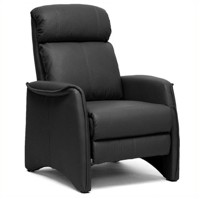 Bowery Hill Faux Leather Recliner In Black