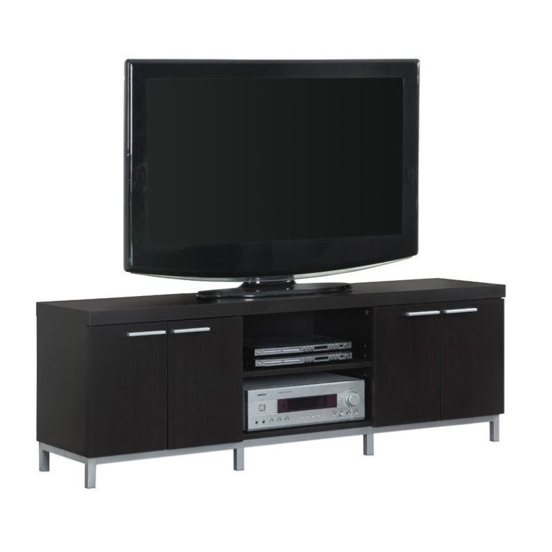 Bowery Hill 60 2 Storage Cabinet TV Console in Cappuccino
