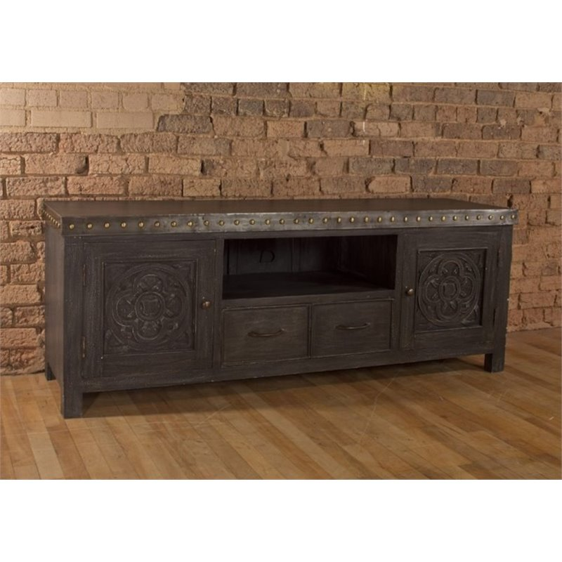 Bowery Hill 64 TV Stand in Dark Gray