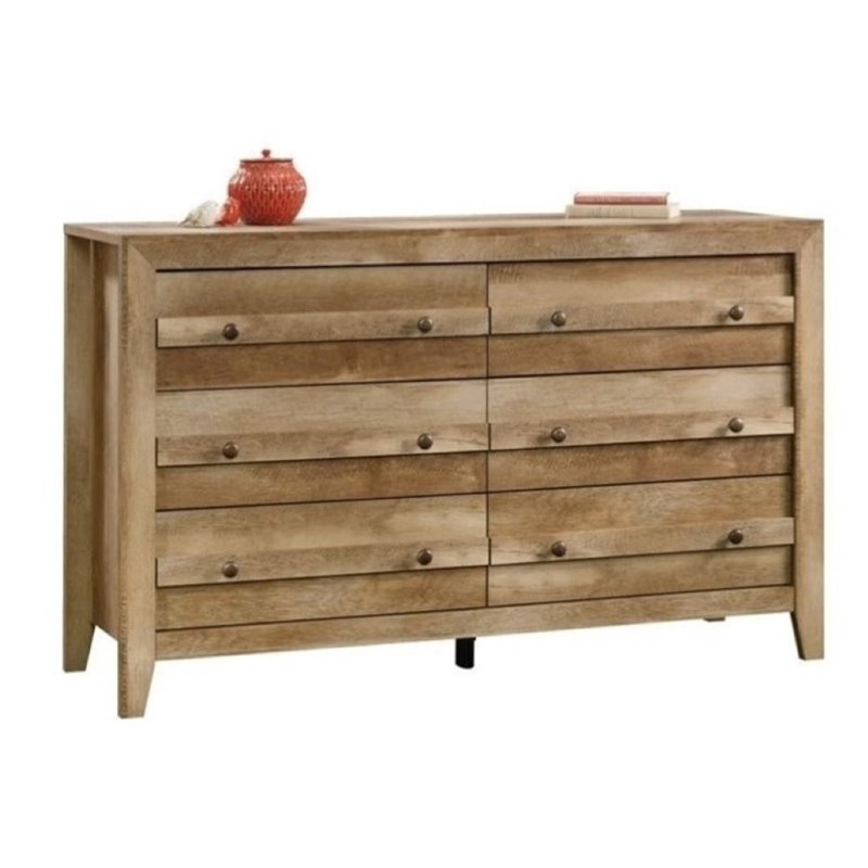 Bowery Hill 6 Drawer Dresser in Craftsman Oak
