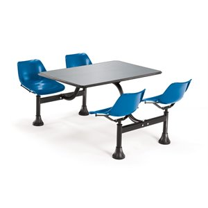 Bowery Hill Cluster Lunchroom Table in Navy