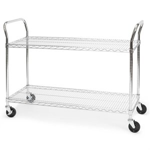 "Bowery Hill 18"" x 48"" Heavy Duty Mobile Wire Metal Media ..."