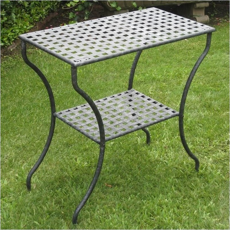 Pemberly Row Rectangular 2-Tier Patio Table