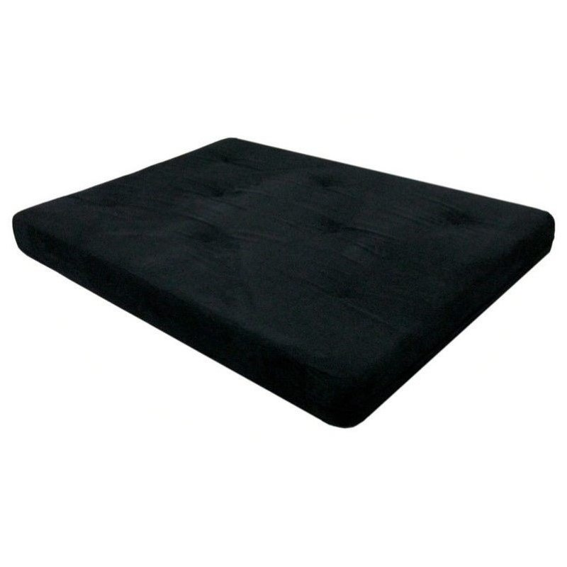 Pemberly Row 6 Full Futon Mattress in Black