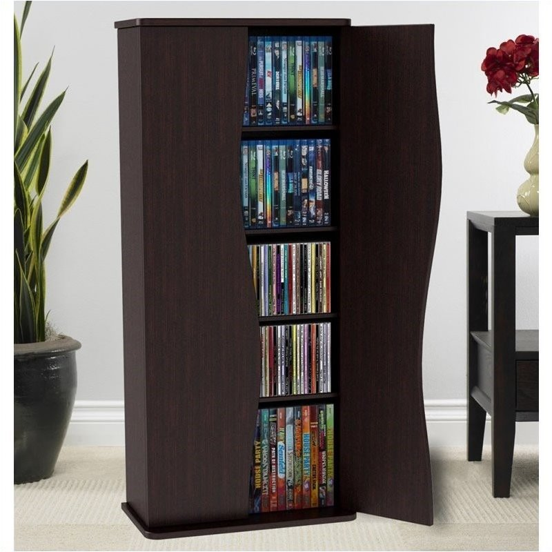 Pemberly Row 35 Media Storage Cabinet in Espresso