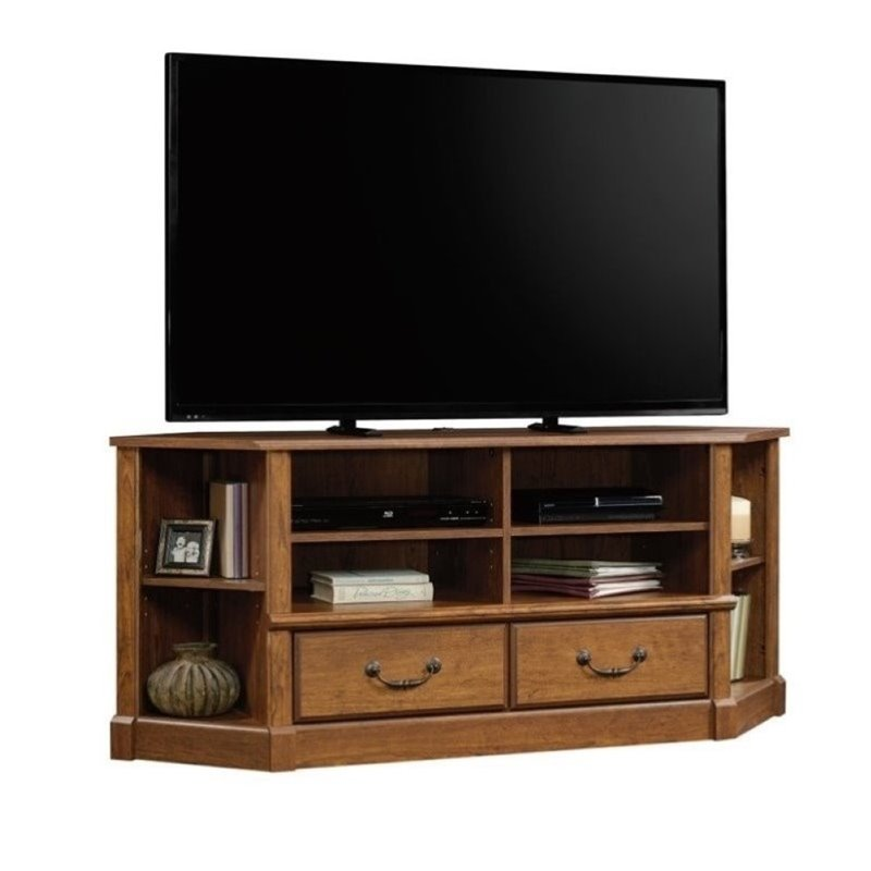 Pemberly Row TV Stand in Milled Cherry