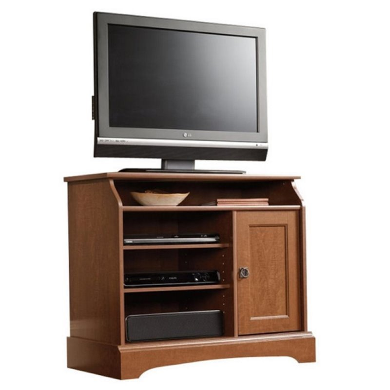 Pemberly Row Highboy TV Stand in Autumn Maple