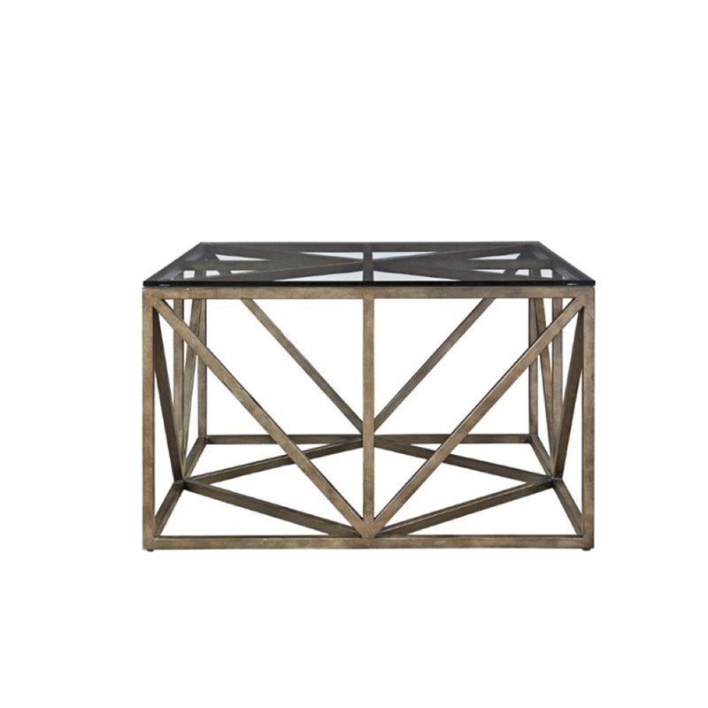Beaumont Lane Square Coffee Table in Khaki
