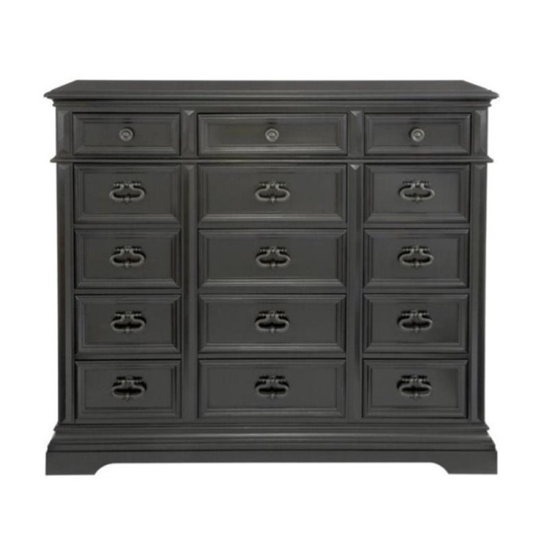 Beaumont Lane 15 Drawer Chest in Ebony