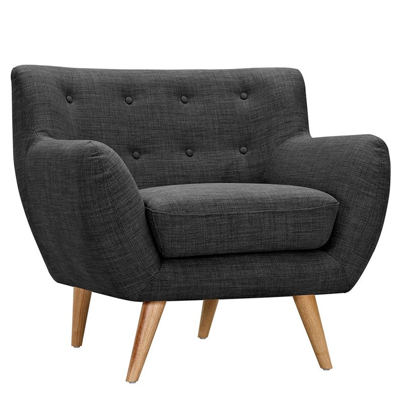 NyeKoncept Ida Armchair in Charcoal Gray