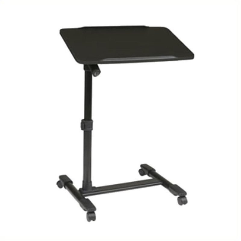 Scranton and Co Adjustable Top Mobile Laptop Cart in Black