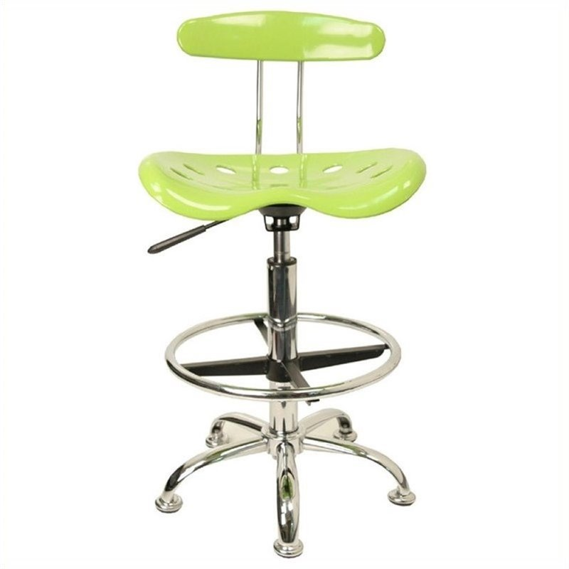 Scranton & Co Drafting Chair in Apple Green and Chrome SC-454672