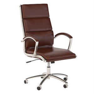Scranton & Co High Back Leather Executive Office Chair in Cherry
