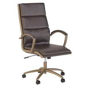 Scranton & Co High Back Leather Executive Office Chair in Brown