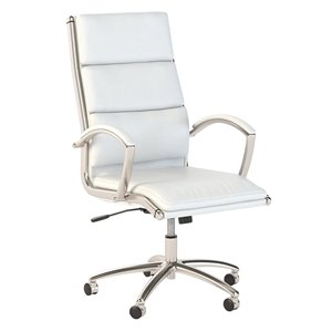 Scranton & Co High Back Leather Executive Office Chair in White