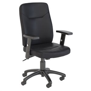 Scranton & Co High Back Leather Executive Office Chair in Black
