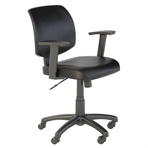 Scranton & Co Leather Office Chair in Black