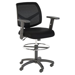 Scranton & Co Mesh Back Drafting Chair with Foot Ring in Black