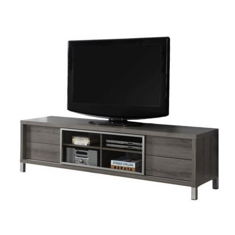 Atlin Designs Euro Style TV Stand in Dark Taupe