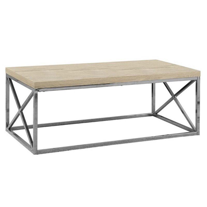 Atlin Designs Coffee Table in Natural and Chrome