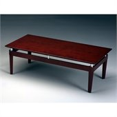 Mayline Napoli Rectangular Coffee Table in Sierra Cherry