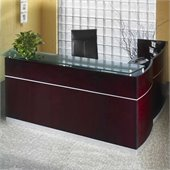 Mayline Napoli 87 Reception Desk with Return and Privacy Screen