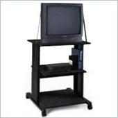 Mayline AV Cart with Safety Strap & Adjustable Middle Shelf