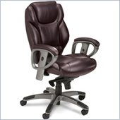 Mayline Ultimo Executive Mid Back Chair in Burgundy