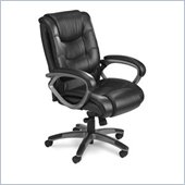 Mayline Utimo Deluxe Mid Back EZ Assemble Chair in Black