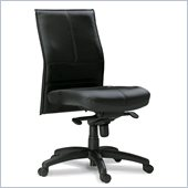 Mayline Mercado Silhouette Mid Back Black Chair