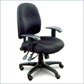 Mayline Mercado Black Fabric, Multi-Function Mechanism Task Chair