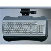 Mayline eLAN Retractable Keyboard Platform in Black