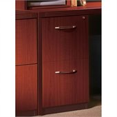 Mayline Aberdeen 2 Drawer Vertical Wood File Pedestal for Credenza