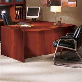 Mayline Aberdeen Bow Front Wood Desk