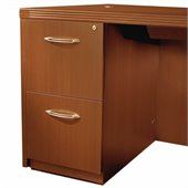 Mayline Aberdeen 2 Drawer Vertical Wood File Pedestal for Desk