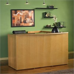 Mayline Luminary Wood Reception Desk Station (No Pedestals)