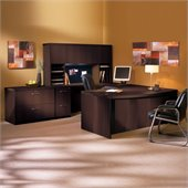 Mayline Aberdeen Wood 72 U-Shaped Desk Set