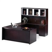Mayline Corsica 72 Wood Executive U-Shaped Desk