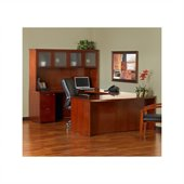 Mayline Mira Wood U-Shaped Desk Set