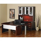 Mayline Napoli 72 Wood Right Hand U-Shaped Desk