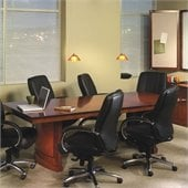 Mayline Sorrento Rectangular Conference Table with Curved Base