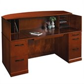Mayline Sorrento Reception Desk with Veneer Counter