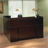 Mayline Sorrento Reception Desk with Veneer Counter and Left Return