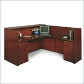 Mayline Corsica Complete Double Pedestal Reception Station with Right Return