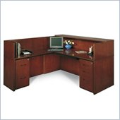 Mayline Corsica Complete Double Pedestal Reception Station with Left Return